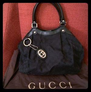 Great Black Gucci Sukey Handbag